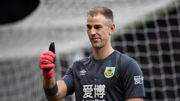 Seasoned goalkeeper Joe Hart has made just three appearances for Burnley this season.