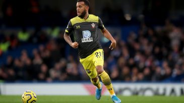 Veteran left-back Ryan Bertrand of Southampton in action during a Premier League game.
