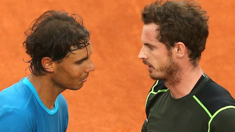 Rafael Nadal and Andy Murray during one of their encounters.