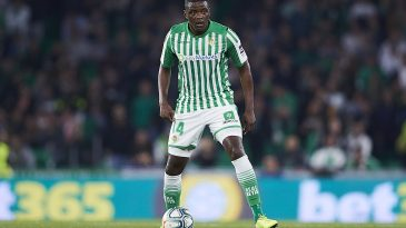 William Carvalho of Real Betis in action during a La Liga encounter.