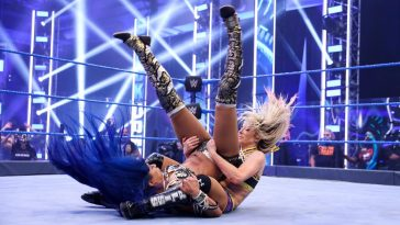 Alexa Bliss takes out Sasha Banks
