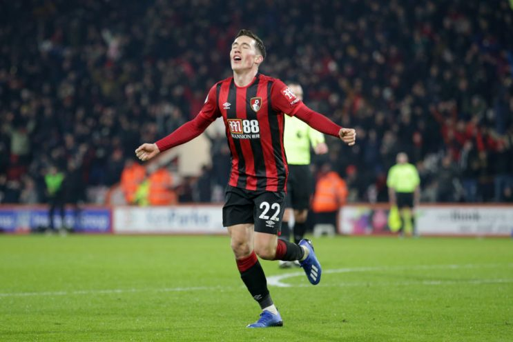 Harry Wilson celebrates after scoring against Brighton (Getty Images)