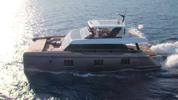 The new catamaran model 80 Sunreef Power boat owned by Spanish tennis star Rafael Nadal.