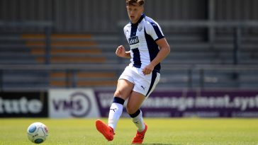 Jack Fitzwater of West Brom in action during a pre-season friendly match back in 2018.