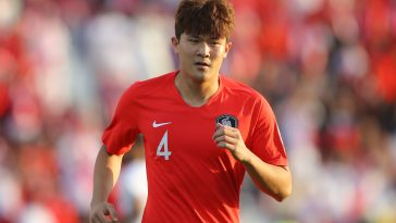 Kim Min-Jae of South Korea looks on during the AFC Asian Cup round-of-16 match against Bahrain in January last year.