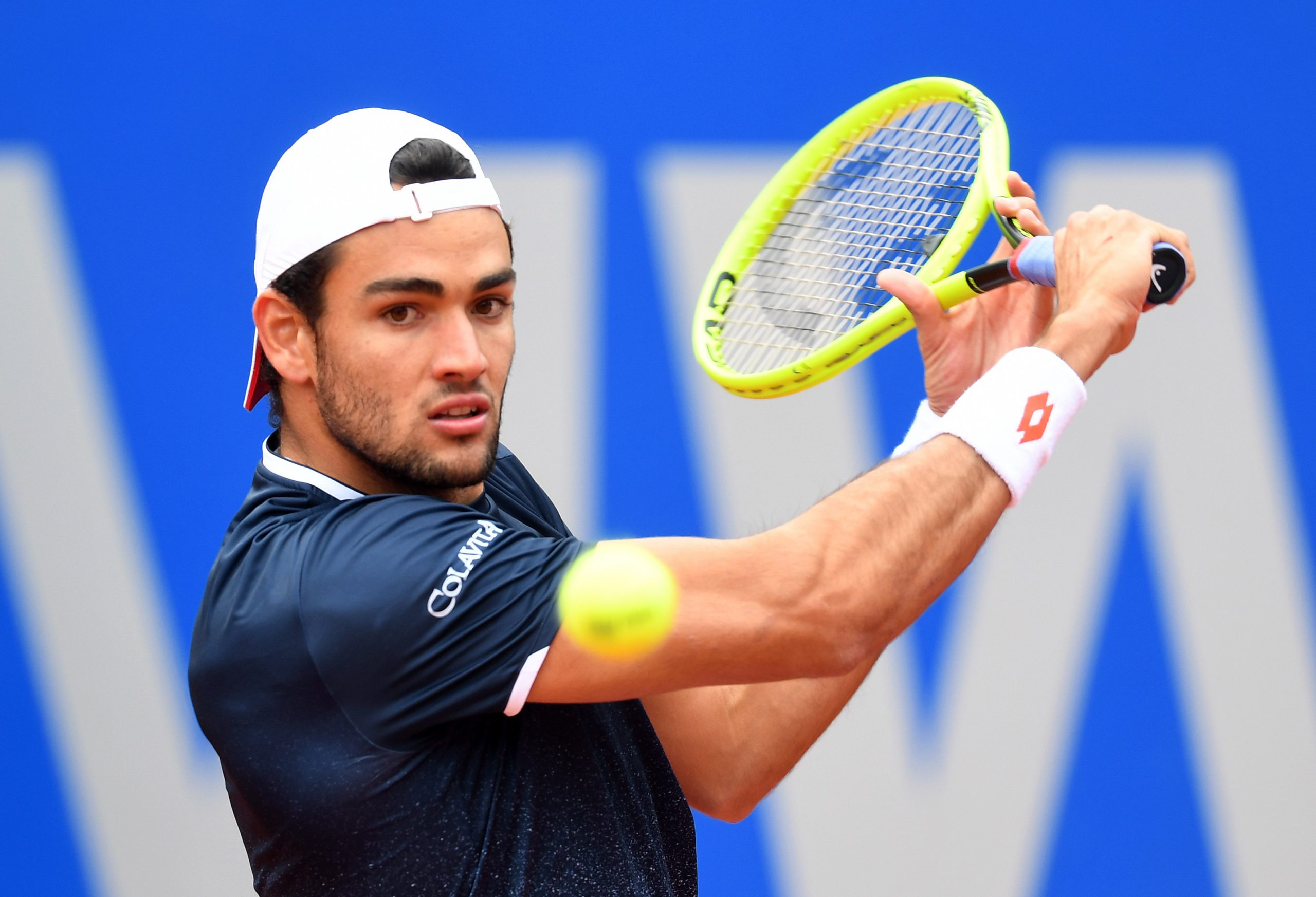 Italy's Matteo Berrettini will meet Dominic Thiem in the final of the exhibition match in Germany.
