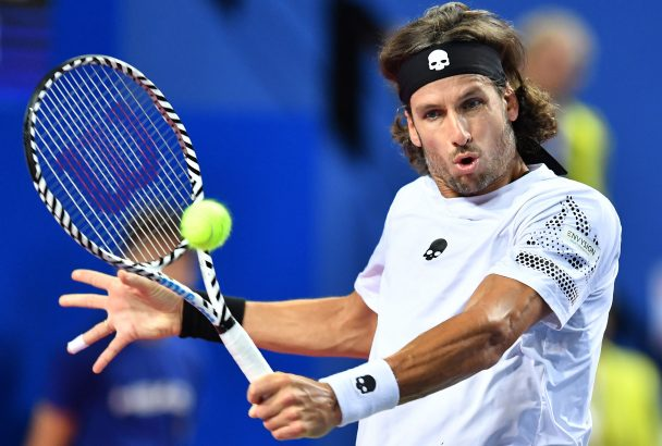 Spain's Feliciano Lopez in action during one of his matches back in February.