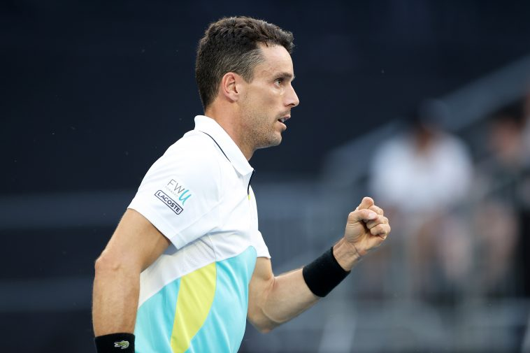 Roberto Bautista Agut of Spain advanced into the semi-finals of the the Thiem's 7 event on Thursday.