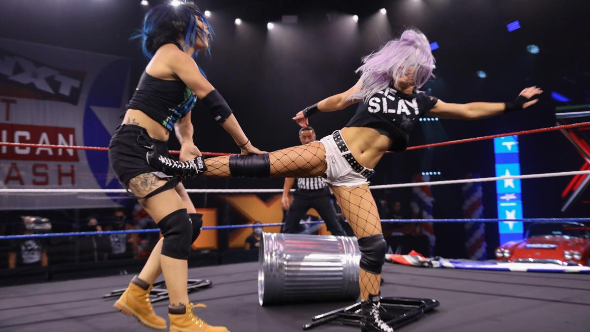 Mia Yim and Candice LeRae continued their rivalry