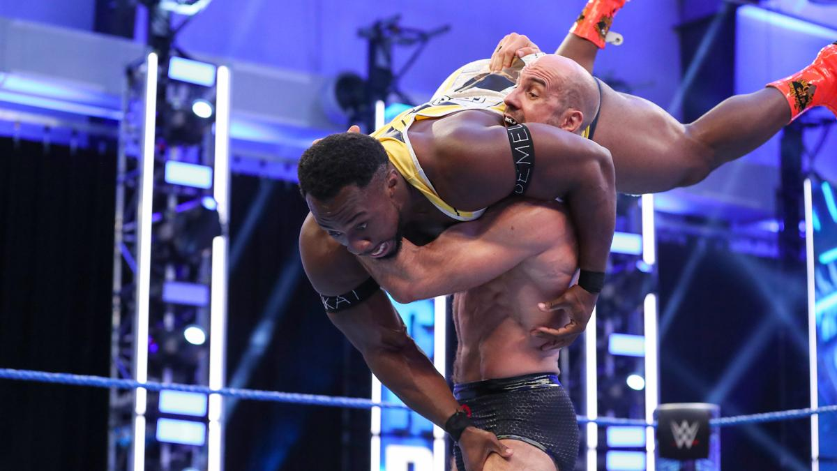 Cesaro and Big E in action on SmackDown