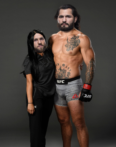 A Twitter user shared this hilarious take on Jorge Masvidal and his girlfriend/coach