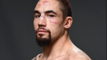 Robert Whittaker suffered a few cuts and bruises against Darren Till