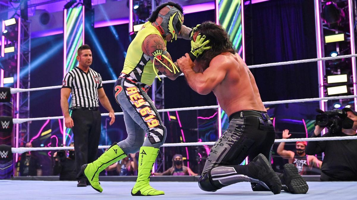 Rollins and Mysterio faced off at Extreme Rules