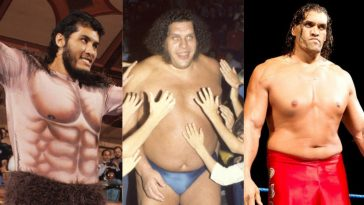 Andre the Giant, The Great Khali and Giant Gonzales are three of the biggest and tallest WWE wrestlers ever