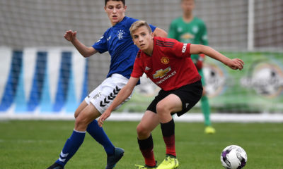 Cole McKinnon (R) in action against Manchester United U18 side (Image credit: Google)