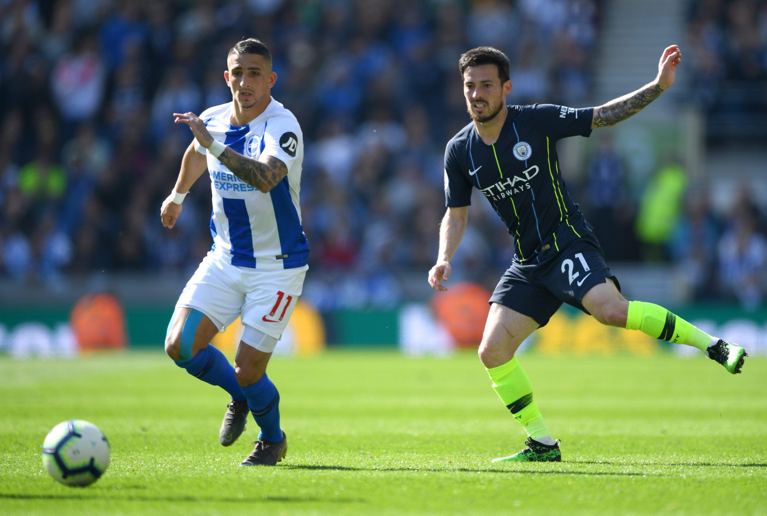 Anthony Knockaert playing for former side Brighton and Hove Albion last season.