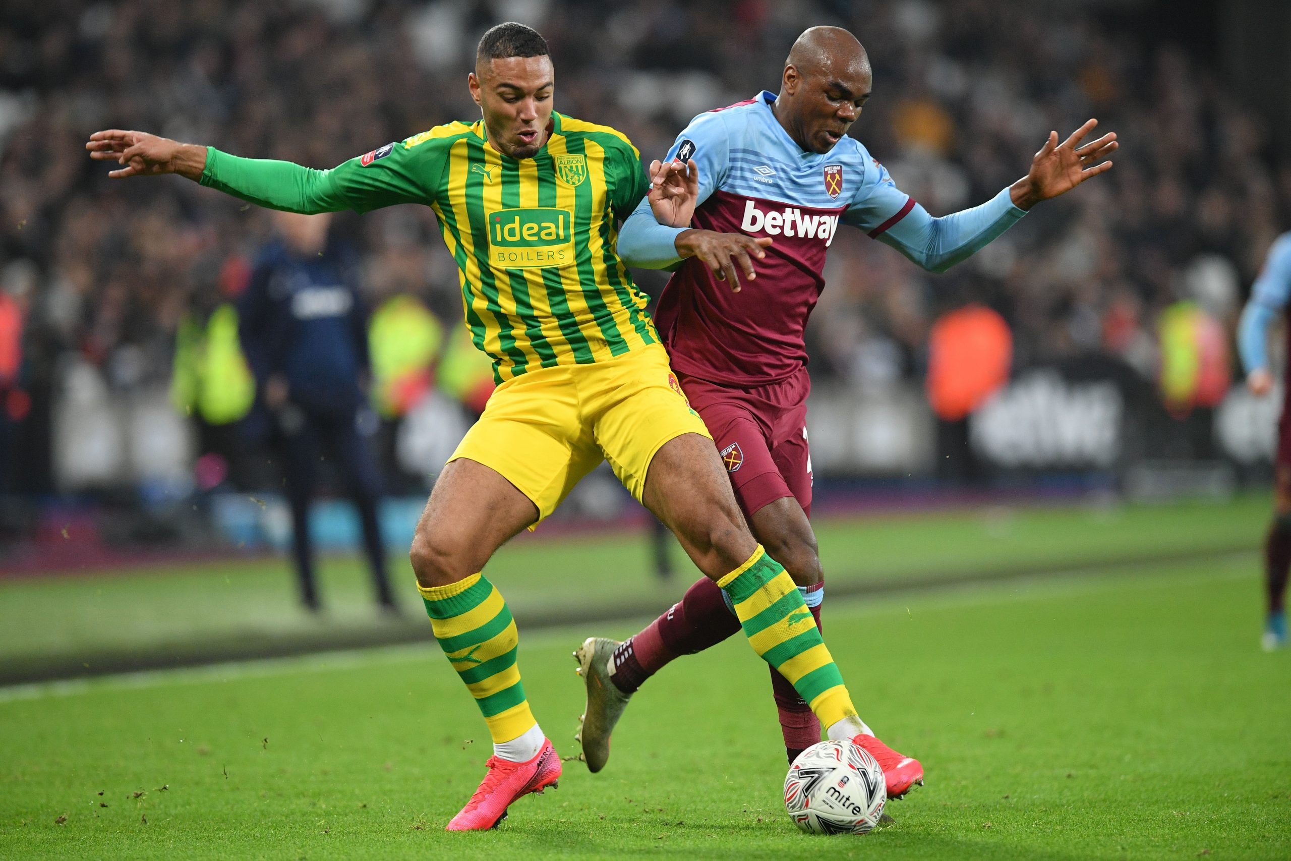 Forward Kenneth Zohore (left) has not been in the best of form since moving to West Brom last summer.