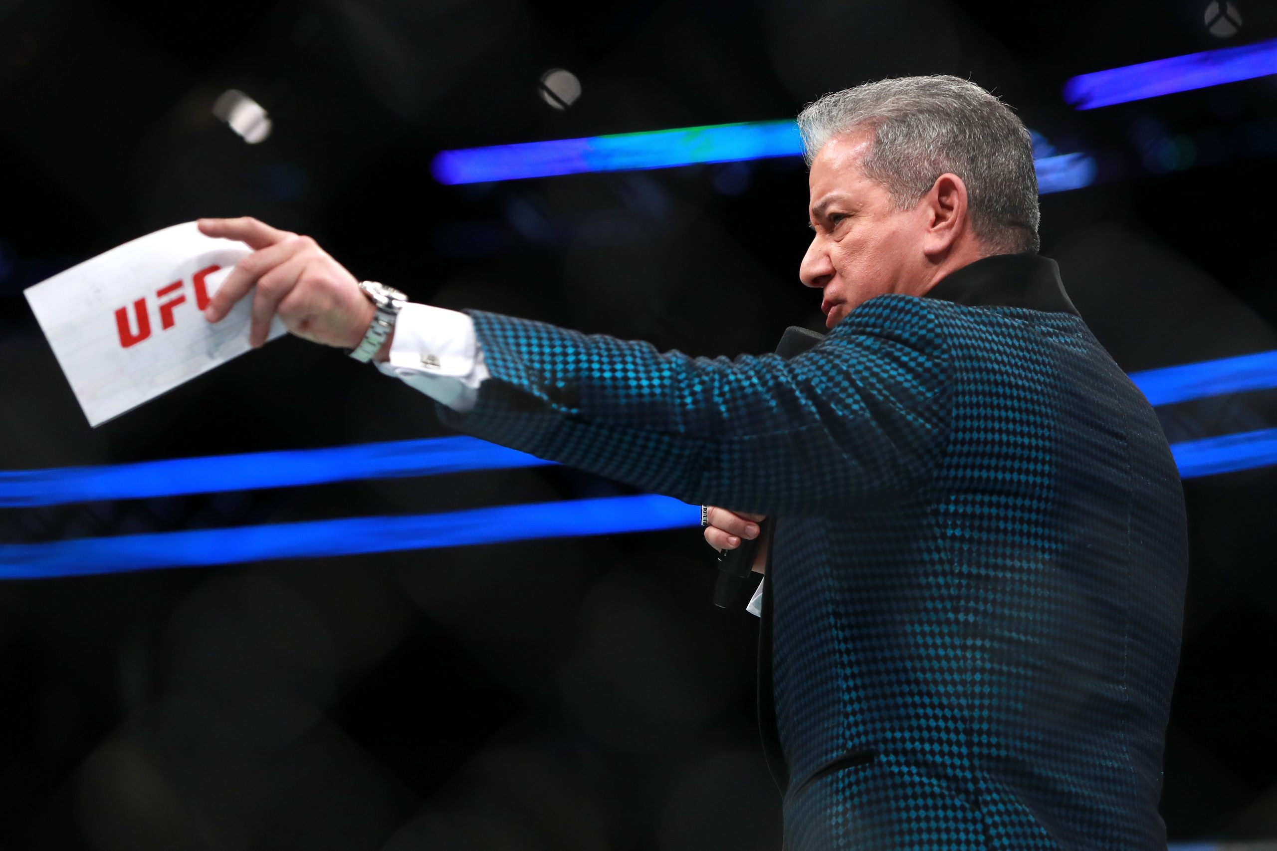Bruce Buffer introducing stars in his own unique style