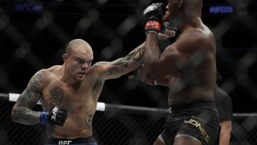 Anthony Smith in action against Jon Jones