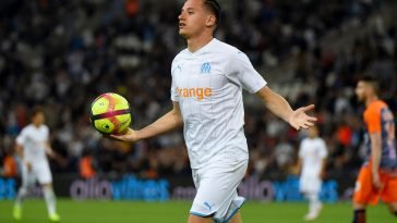 Florian Thauvin celebrates after scoring a goal (Getty Images)