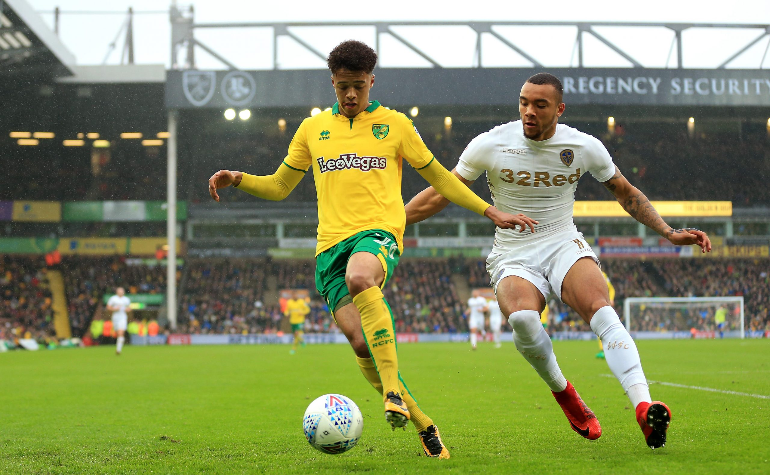 Jay-Roy Grot (right) is yet to impress for Leeds United.