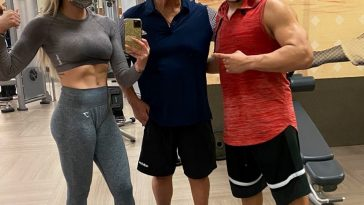 Charlotte Flair trains alongside Andrade and Ric Flair