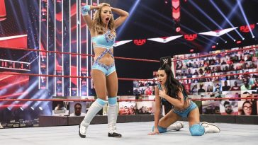 The IIconics after losing on WWE Raw