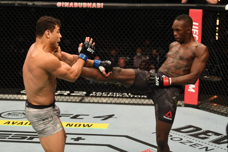 Israel Adesanya brought out some dance moves after winning against Paulo Costa at UFC 253