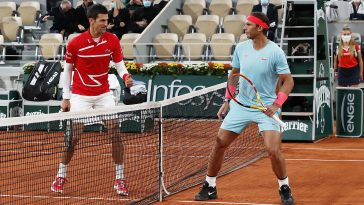 Rafael NAdal and Novak Djokovic met in the 2020 French Open