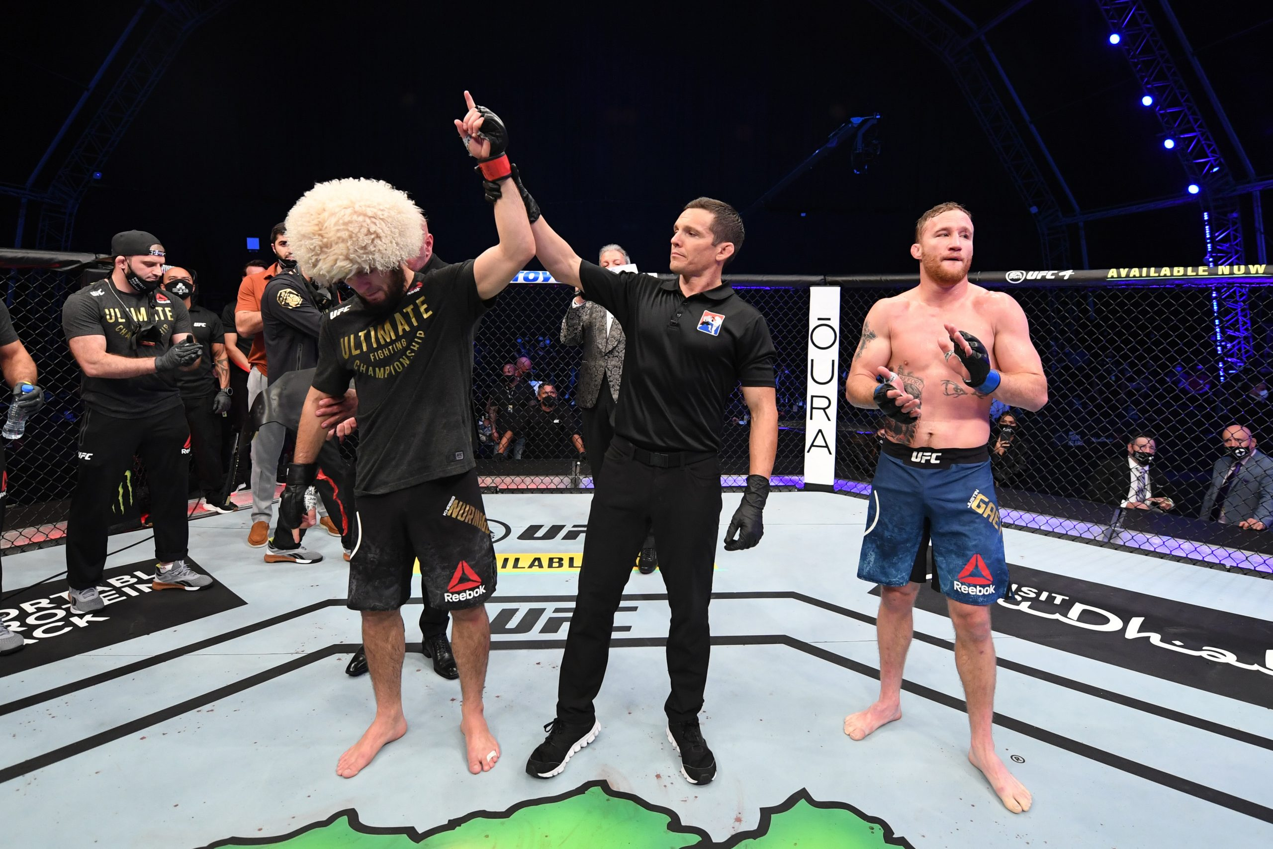 Who won the fight at UFC 254?