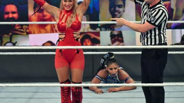Lana was the final participant in the women's Battle Royal