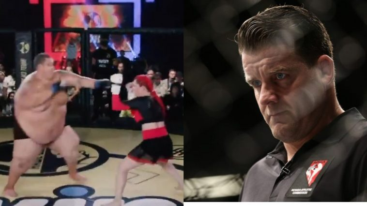 Marc Goddard was unhappy seeing Darina Madzyuk take on a 500+ pound man in a Russian MMA fight
