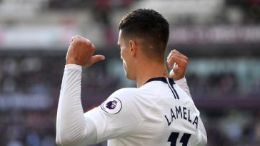 Ex-Premier League striker Noel Whelan believes January is the right time for Jose Mourinho to sell Erik Lamela. (Mike Hewitt/Getty Images Europe)