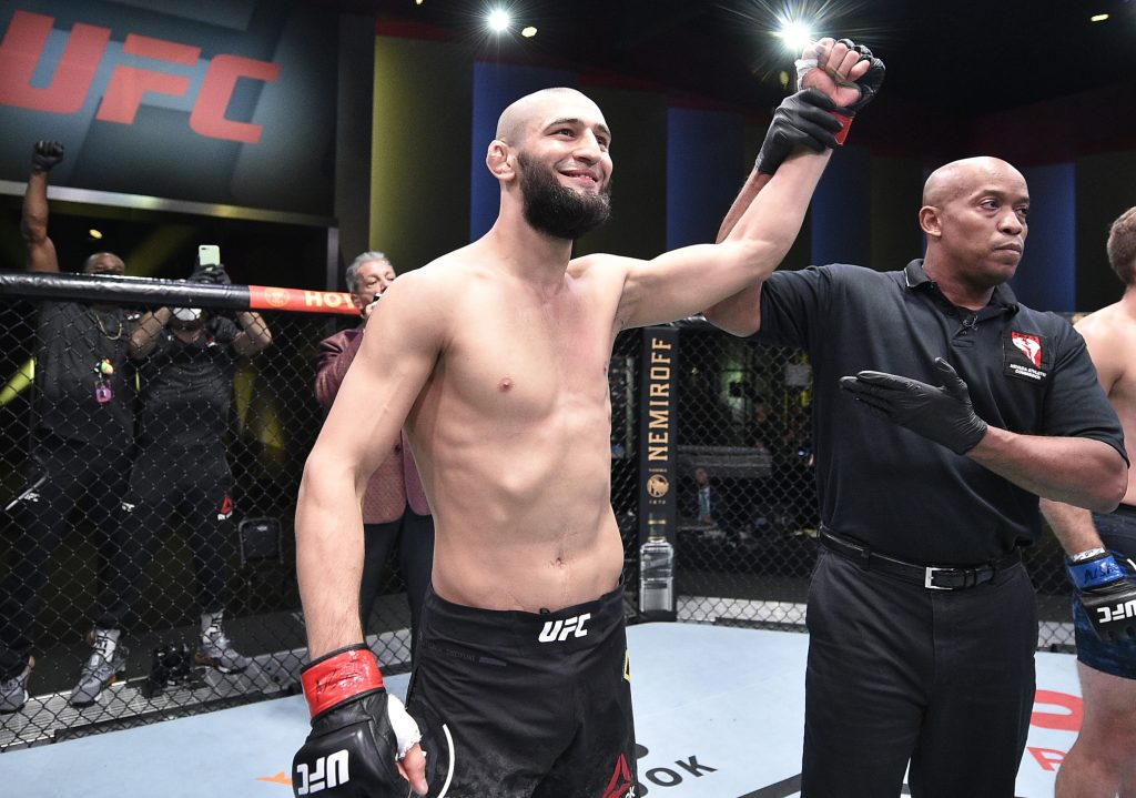 Khamzat Chimaev has pulled out of the UFC Fight Island 8 main event vs Leon Edwards for unknown reasons. (GETTY Images)