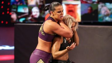 Mandy Rose was attacked by Shayna Baszler on Raw