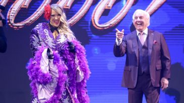 Lacey Evans and Ric Flair on WWE Raw