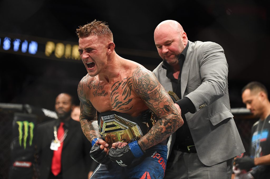 Dana White says Conor McGregor is obsessed with completing a trilogy of fights with Dustin Poirier. (GETTY Images)