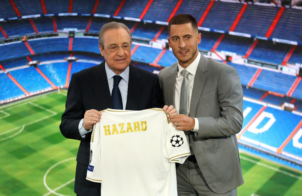 Florentino Perez (L) is the chairman of the European Super League. (GETTY Images)