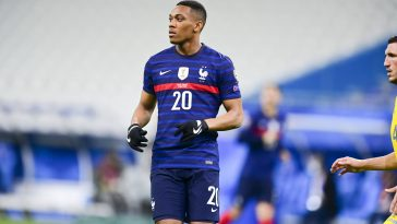 Anthony Martial in action for France against Kazakhstan. (imago Images)