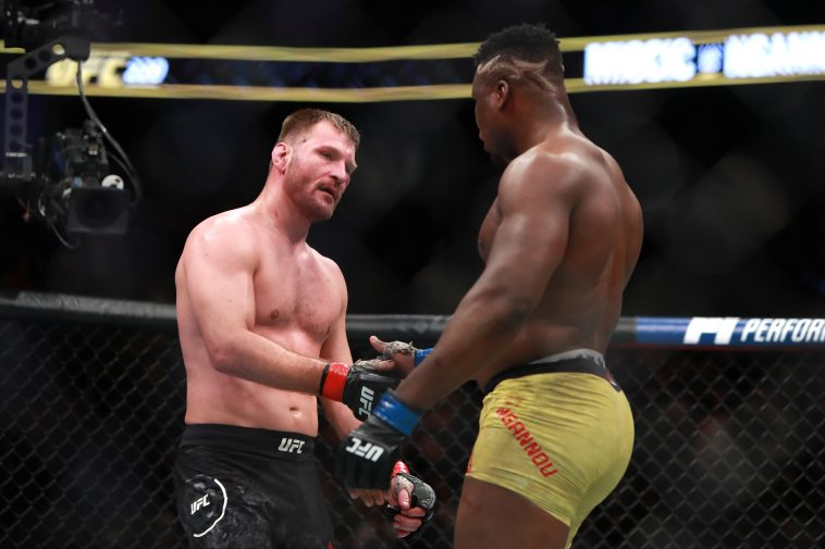 Stipe Miocic and Francis Ngannou will go head-to-head for the UFC heavyweight championship at UFC 260. (Photo by Mike Lawrie/Getty Images)