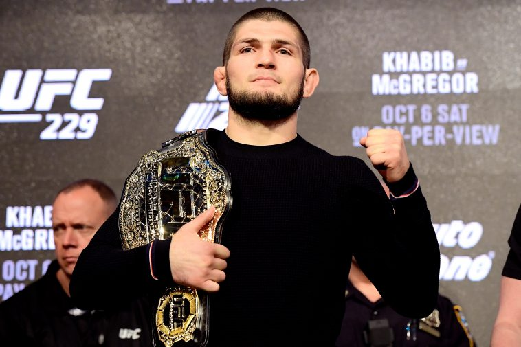 Khabib Nurmagomedov is the reigning UFC lightweight champion. (Photo by Steven Ryan/Getty Images)