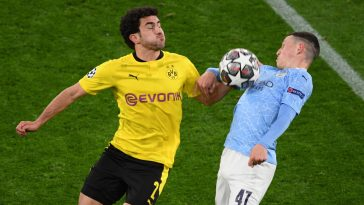 Manchester City beat Borussia Dortmund 4-2 on aggregate in the UEFA Champions League quarter-final.