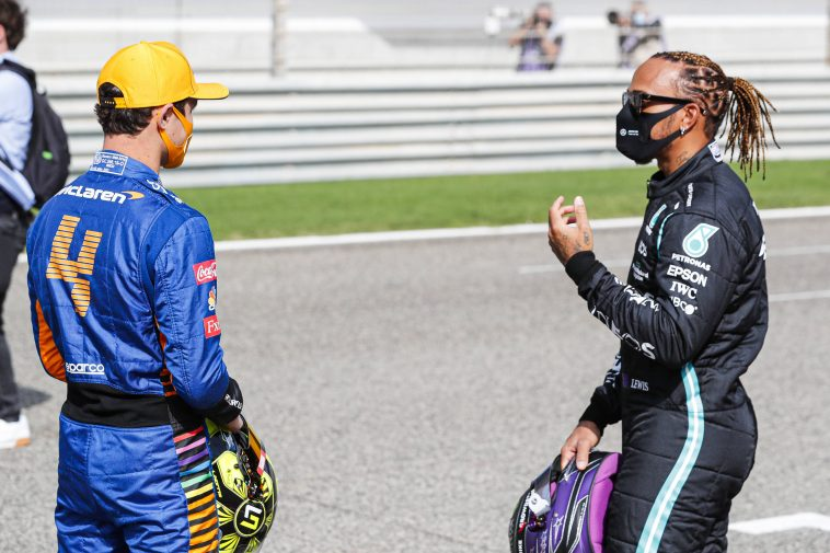 Lewis Hamilton shared some advice with Lando Norris after the 2021 Imola GP qualifying session