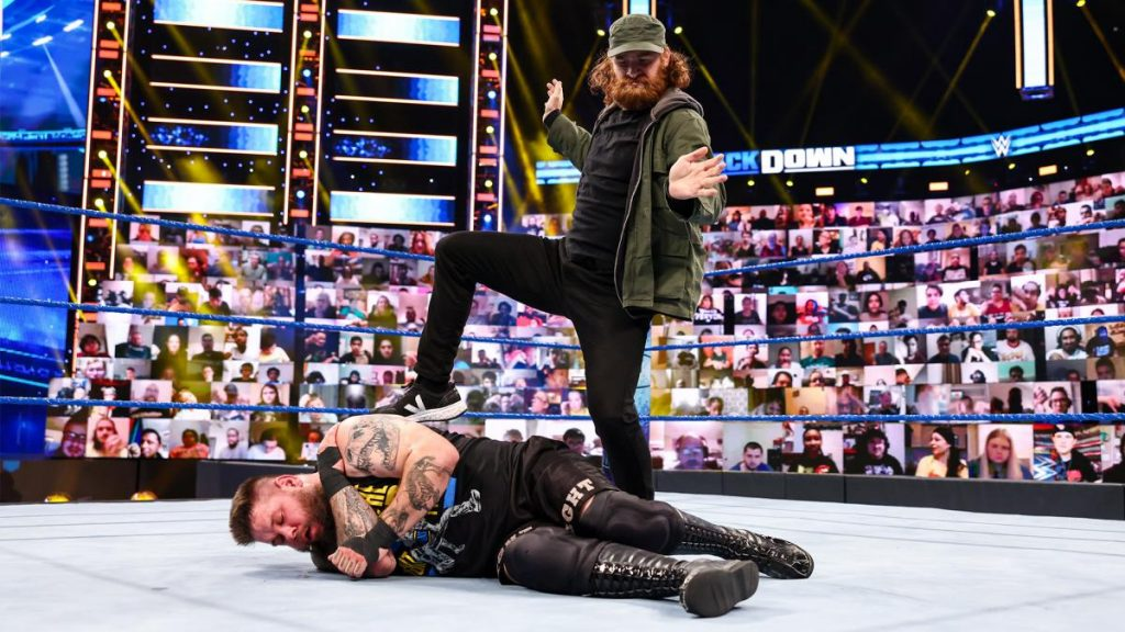 Sami Zayn and Kevin Ownes in action on SmackDown