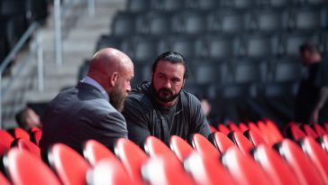 Triple H posted this photo with Drew McIntyre on his Twitter account.
