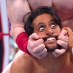 Mansoor did not have it easy on his RAW debut against Sheamus. (WWE)