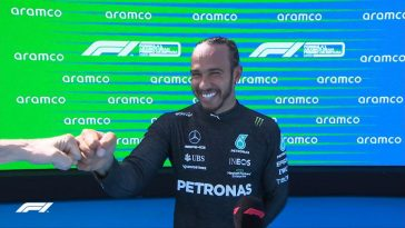 Lewis Hamilton became the first racer to reach 100 pole positions in F1